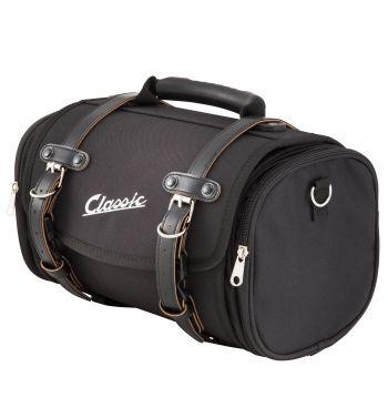 """Borsa/valigia SIP """"Classic"""", piccola, nylon, nera per portapacchi Vespa/Lambretta"""