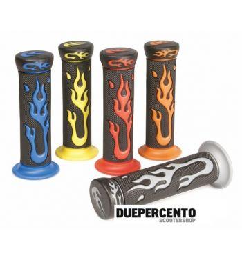 """Manopole """"Flame"""", blu, Ø 22/25 mm, l=120 mm"""