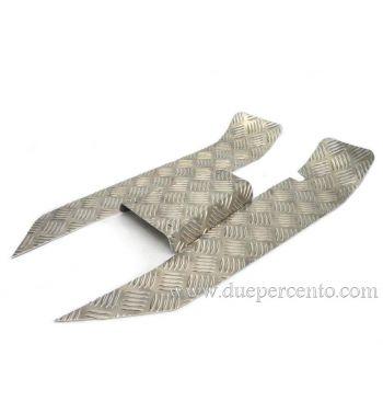 "Set pedane ""mandorlate"" SIP per Vespa 50/ 50 Special/ ET3/ Primavera, alluminio"