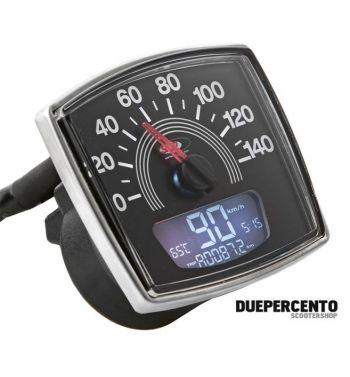 Contachilometri e contagiri SIP 2.0 per Vespa 50 Special, 14.000rpm, colore quadrante: nero