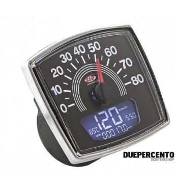 Contachilometri e contagiri SIP 2.0 per Vespa 50 Special, 8.000rpm, colore quadrante: nero