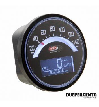 Contachilometri e contagiri SIP 2.0 per Lambretta LI 125 /150 1°/2°/TV 175 1° - 140 (km/h/mph) / 14.000 (Umin/rpm)