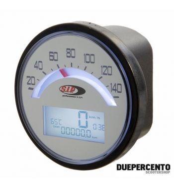 ContaKm - Contagiri SIP 2.0 per Lambretta LI 125 /150 1°/2°/TV 175 1° - 140 (km/h/mph) / 14.000 (Umin/rpm),BIANCO
