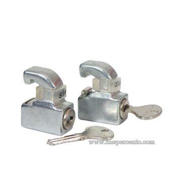 Serrature cromate per cofani Vespa GT/ GTR/ TS/ Super/ GL/ Sprint/ 160 GS/ 180 SS/ PX125-200/ PE/ T5