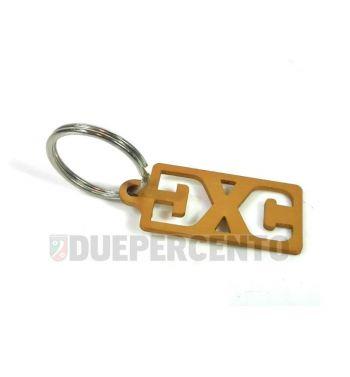 Portachiavi DXC ergal anodizzato - oro, 22x40mm