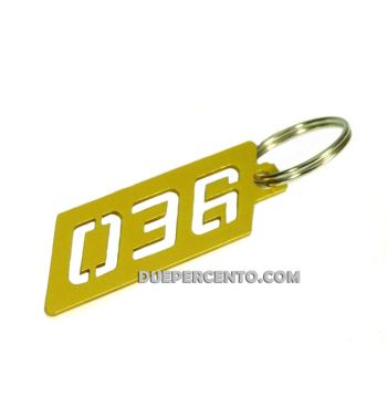 Portachiavi PLC Corse ergal anodizzato - oro