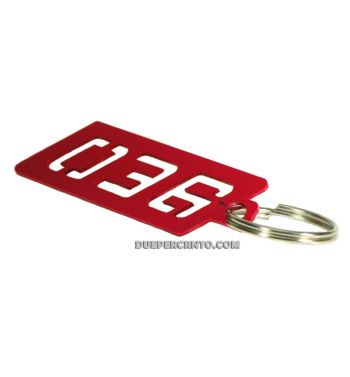 Portachiavi PLC Corse ergal anodizzato - rosso