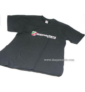 Maglietta DUEPERCENTO logo classico - NERA - L